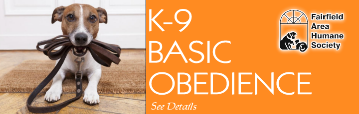 k-9 Basic Obediance Training - Fairfield Area Humane Society